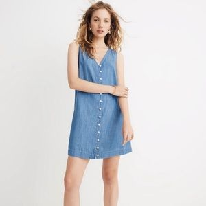 EUC Madewell denim button front dress size XXS